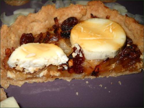 Tartelettes fines oignons chèvre et fromage frais