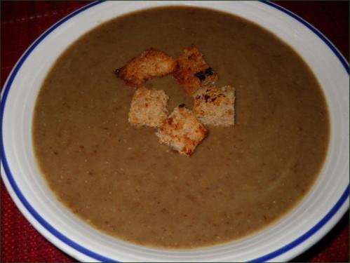 soupe de lentille au gingembre