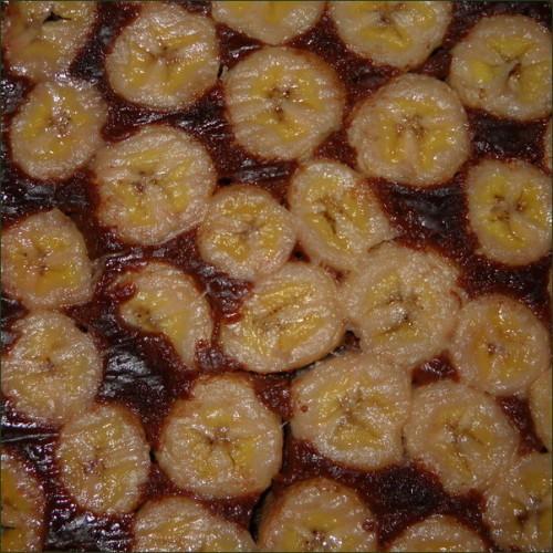 Gâteau banane chocolat.