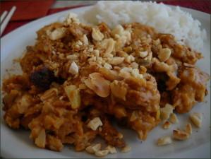 Tofu aux cacahuète (sauce saté)