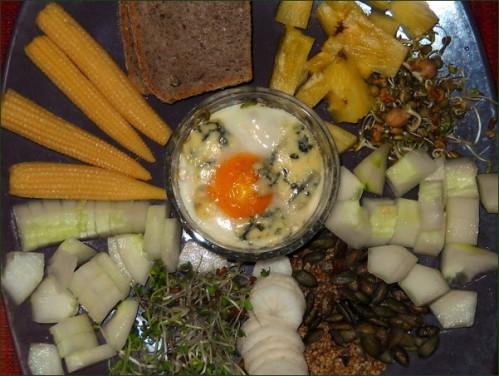 Oeuf cocotte et salade DIY vegecarib397
