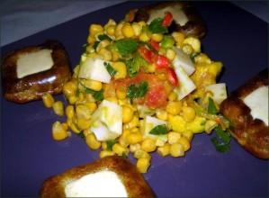 Flans christophine et salade de maïs vegecarib792