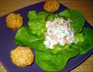 muffins de polenta et macédoine mayonnaise vegecarib839
