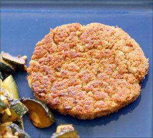 Steaks de soja ou galettes végétales aux protéines texturées