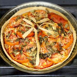 tarte aux tomates provencales, palmier