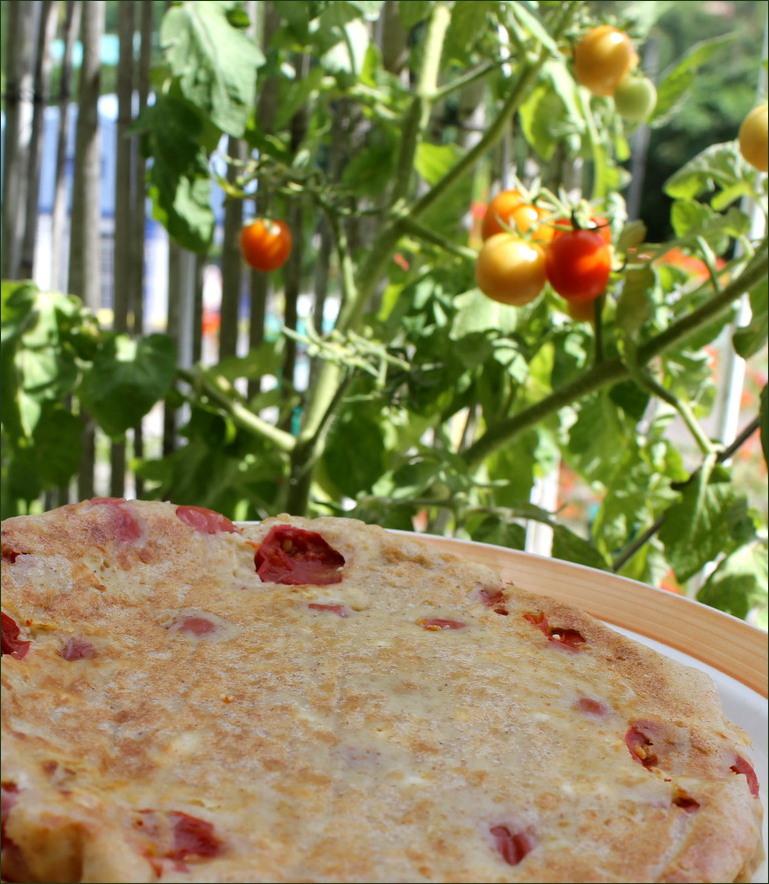 clafoutis tomates cerises chevre